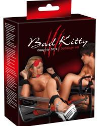 Bad Kitty Bondage Set Veľká 8-dielna BDSM sada čierno-červená