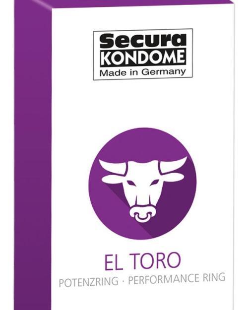 Secura kondómy El Toro s erekčným krúžkom 24 ks