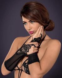 Obsessive rukavičky Luiza - čierne