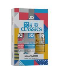 JO H2O TRI ME Classic sada 3ks lubrikačných gélov