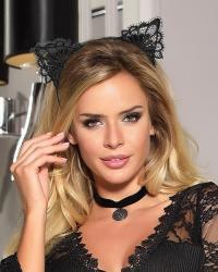 Wanita Cute Cat čelenka mačacie ušká čierne