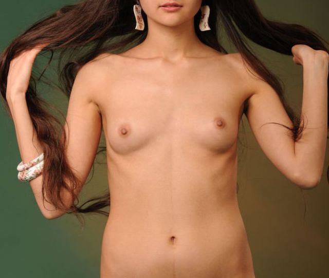 Sweet Small Tits Brunette Nude Girl