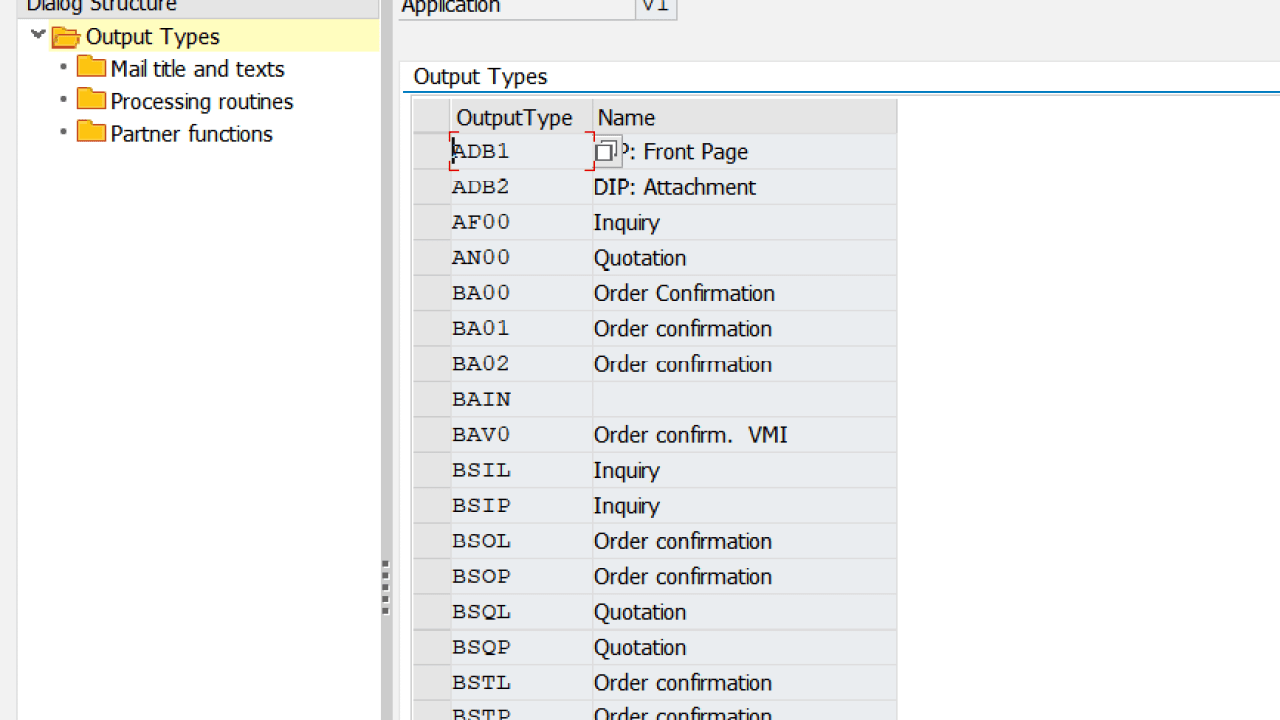 Output Configuration and Determination in SAP SD
