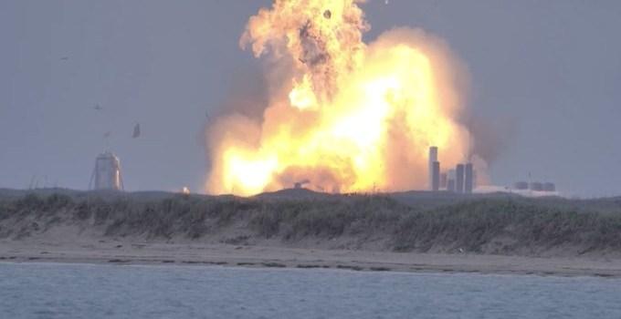 Starship SN4 explosion