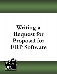 What to Include in an RFP for ERP Software   ERP Software Blog RFP cover page