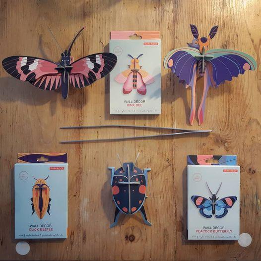 make it real - insetti di carta da costruire - insects 3d - R nel bosco