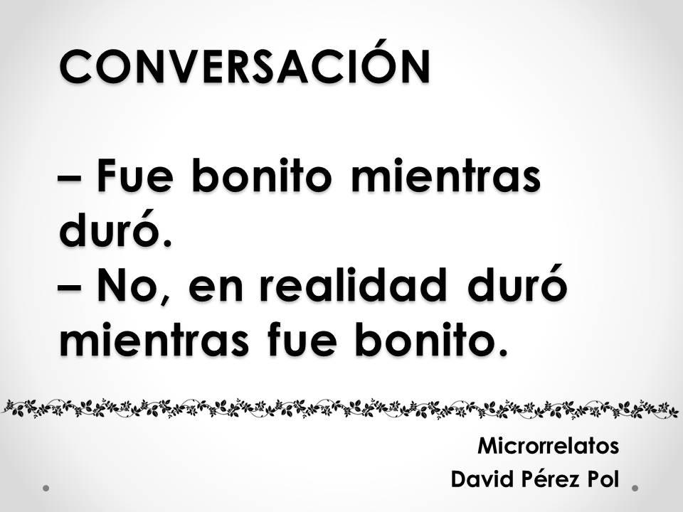 Conversación, microrrelato de David Pérez Pol