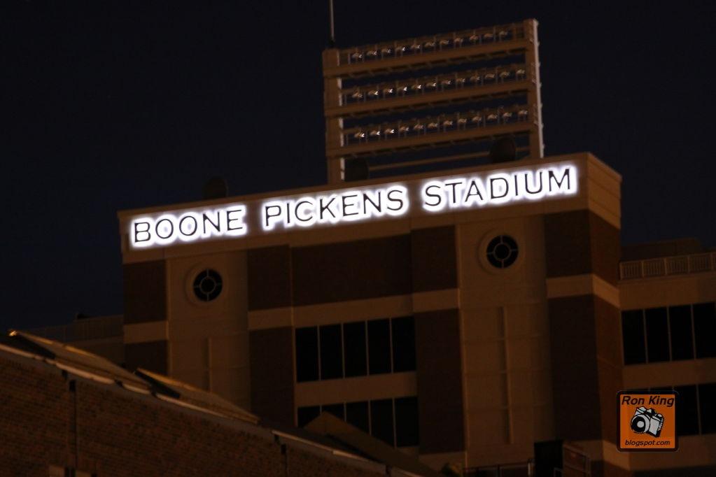 Boone Pickens Stadium Night