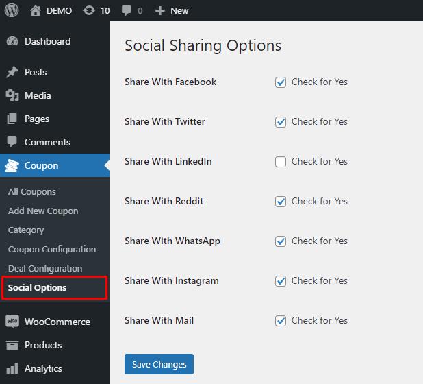 add custom social media sharing