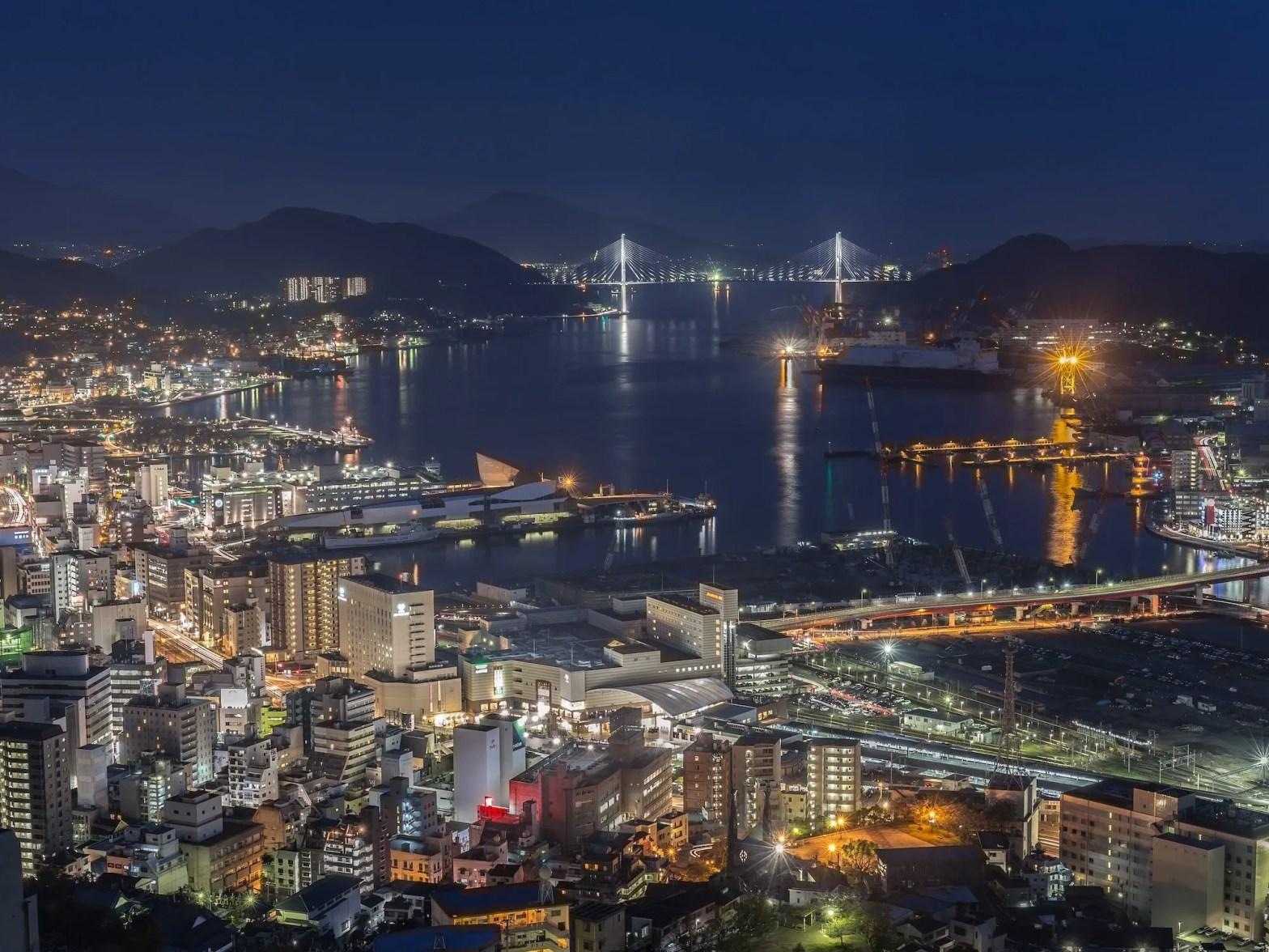 Nachtelijke uitzichten: Mount Inasa