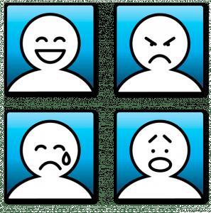 Afbeeldingsresultaat voor 4 basis emoties