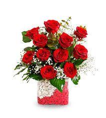 kırmızı gül aranjmanlar sevgiliye çiçek