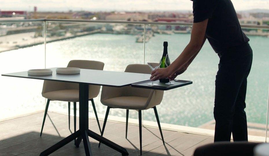 mesas anticojeo para hoteles