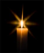 Para rezar...un cirio encendido