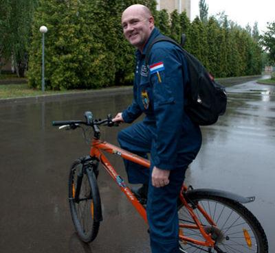 André Kuipers durante una sesión de entrenamiento en el GCTC