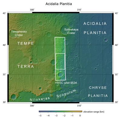 Acidalia Planitia en el contexto