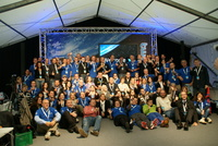 Astronauts and participants at Spacetweetup 2011
