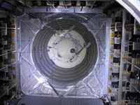 ATV-3 interior durante la revisión