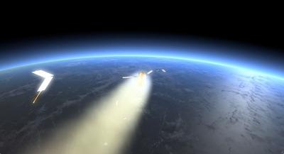 Illustration of ATV-2 reentry