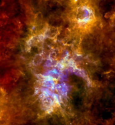 Blowing bubbles in the Carina Nebula