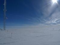 Calibración de la torre, en la Antártida