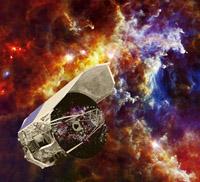 Artista impresión de la nave espacial Herschel