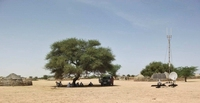 A solar-powered base station for mobile phones in Niger