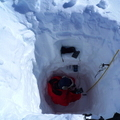 Medir las propiedades de la nieve