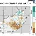 Sudáfrica saturación del suelo la humedad