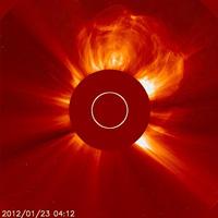 ESA/NASA SOHO solar flare 23 January 2012