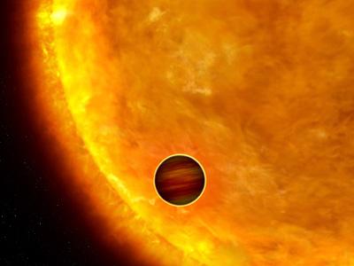 Artist's impression of an exosolar planet