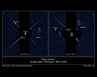 Hubble de la NASA descubre a otro la Luna alrededor de Plutón