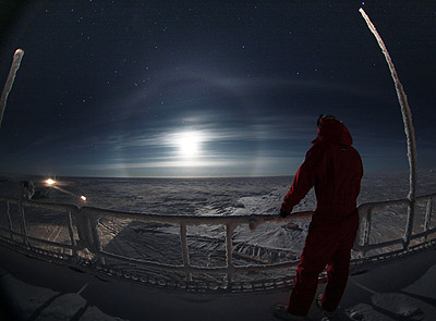 A stunning view from the Concordia research station. Click on picture to know more about job opportunity.  Credits: A.P.Salam