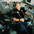 Hans Schlegel inside the Spacelab D2