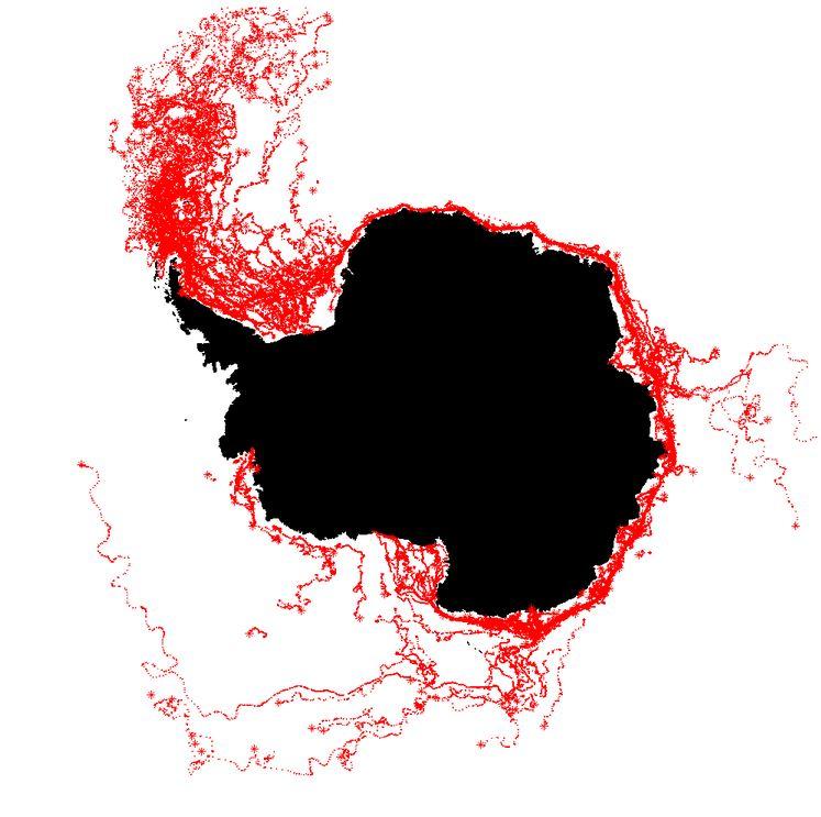 Iceberg Tracks - ESA