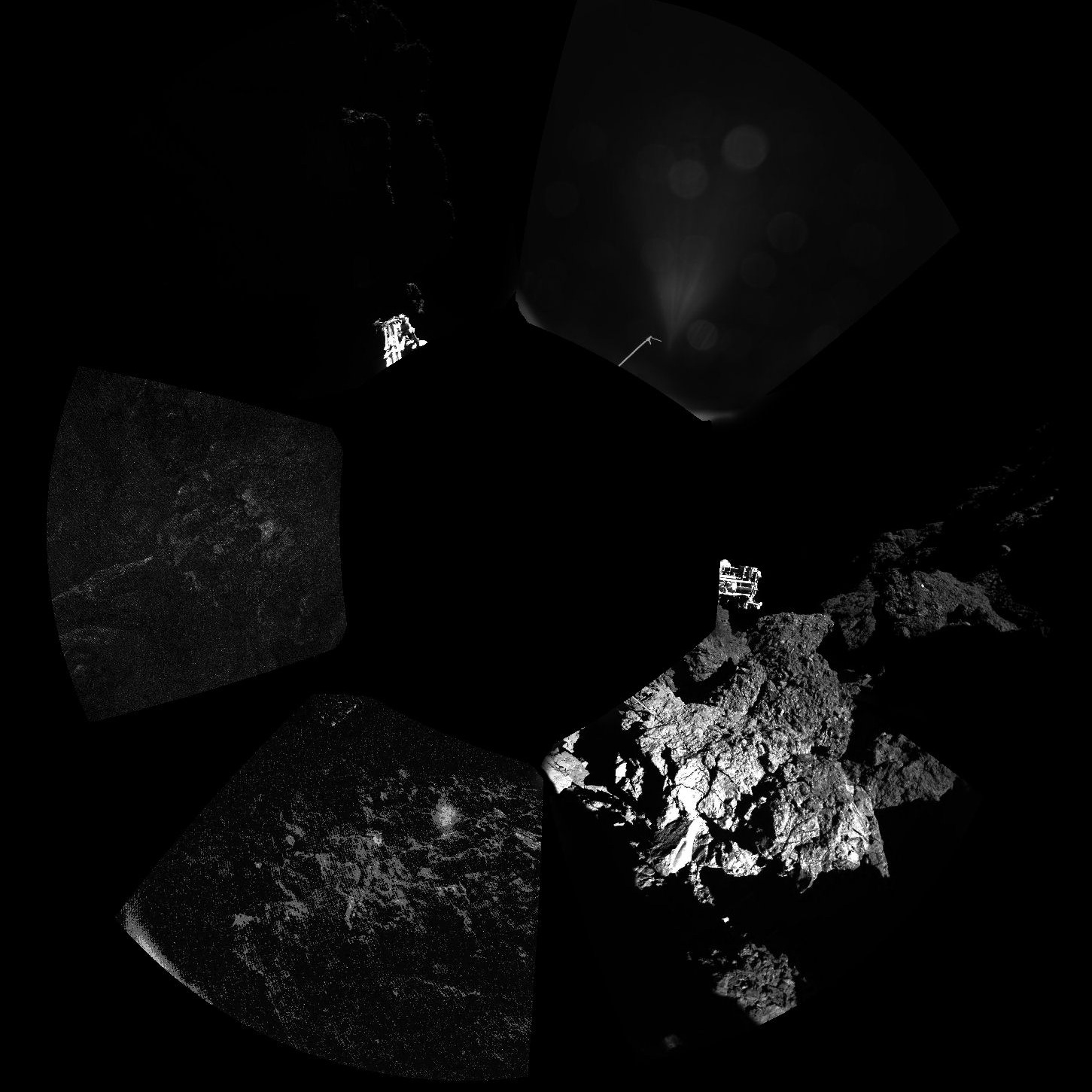 First panoramic view of the comet