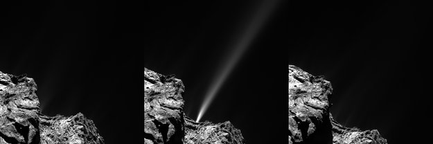 Comet 67P/Churyumov–Gerasimenko outburst, photo by Rosetta