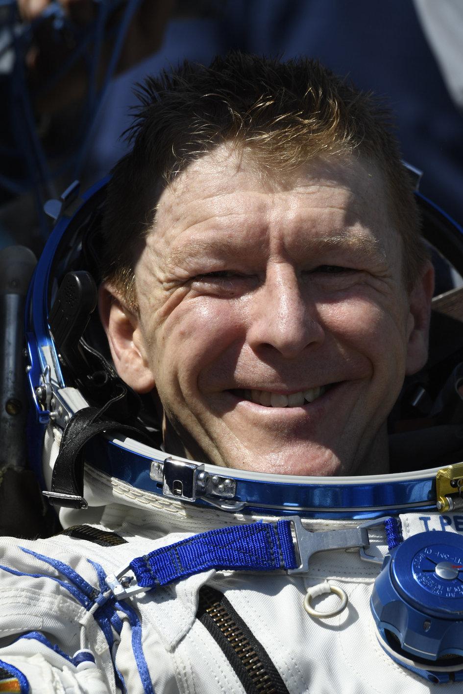 Tim Peake after landing
