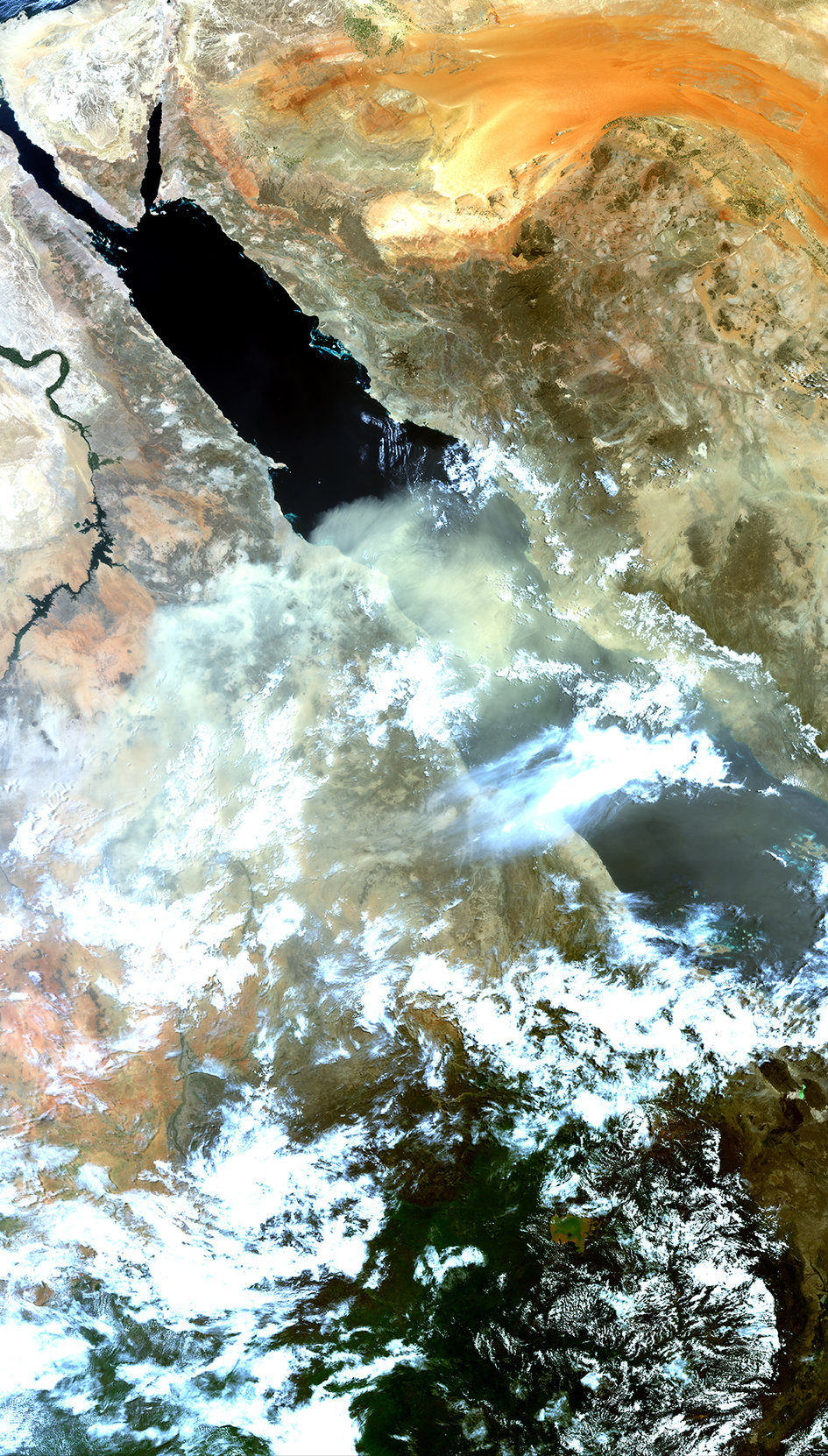 Dust storm over the Red Sea
