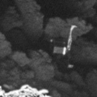 İşte Philae (ESA/Rosetta/MPS for OSIRIS Team).