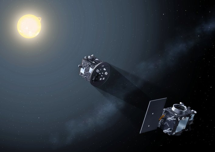 Proba-3 satellites form artificial eclipse