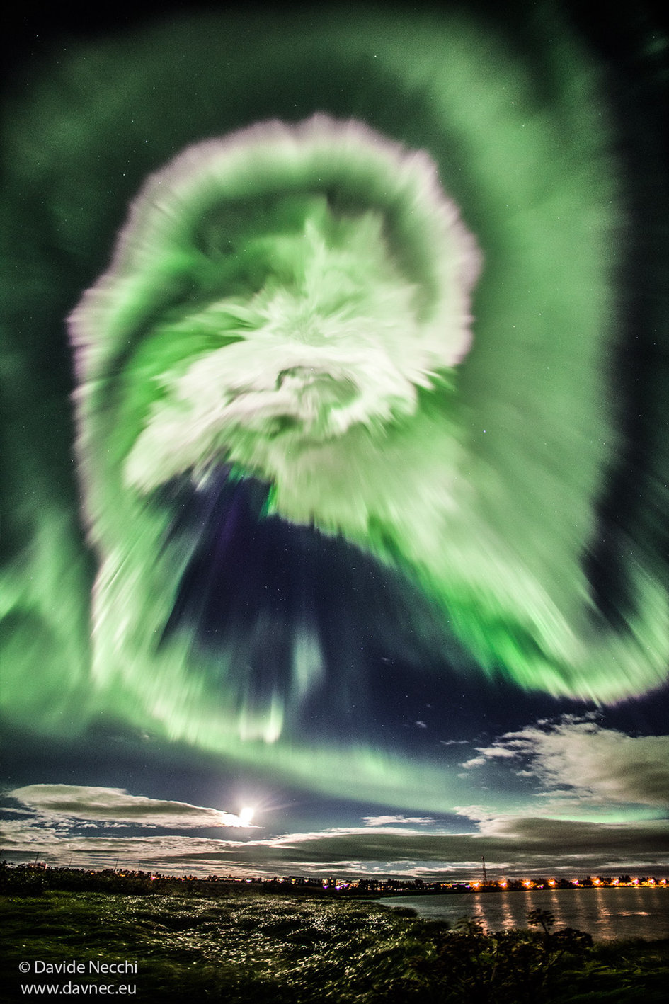 A sinister-looking aurora over Iceland