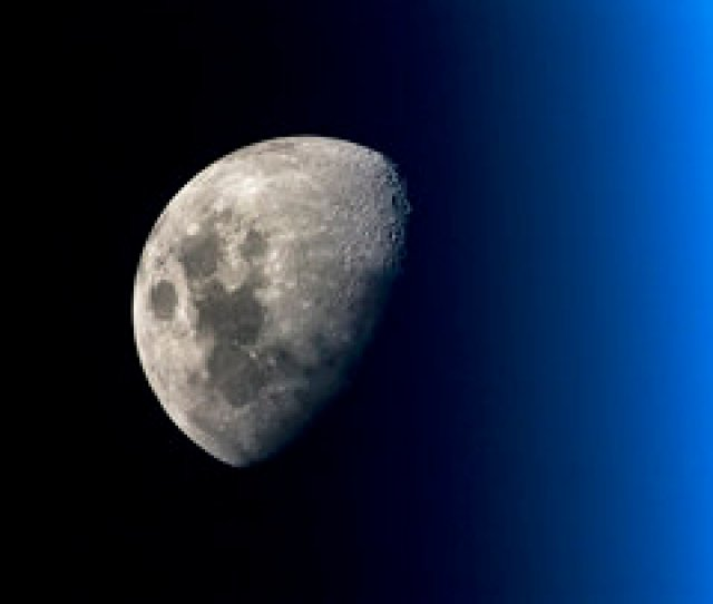 Moon Seen From Space Station
