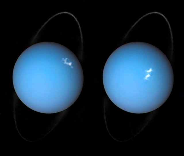 Las auroras de Urano