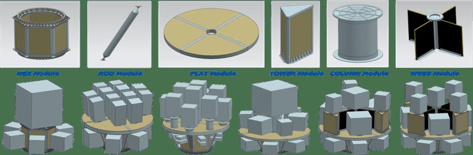 Peças modulares do SSMS