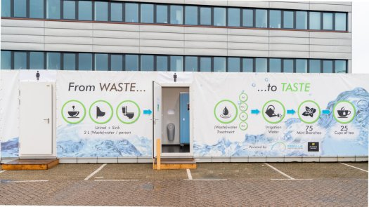 The Semilla Sanitation Hubs' unit at ESA's Open Day in 2019