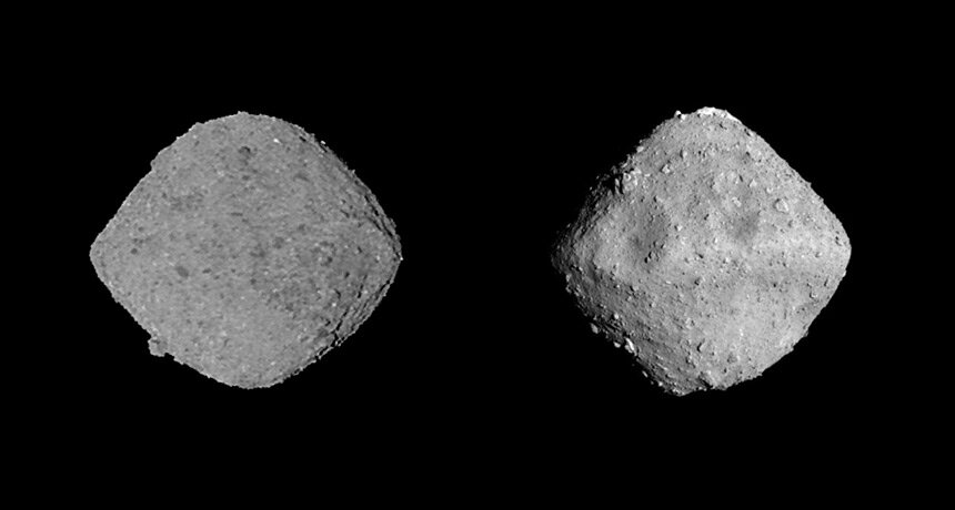 Asteroides Bennu e Ryugu