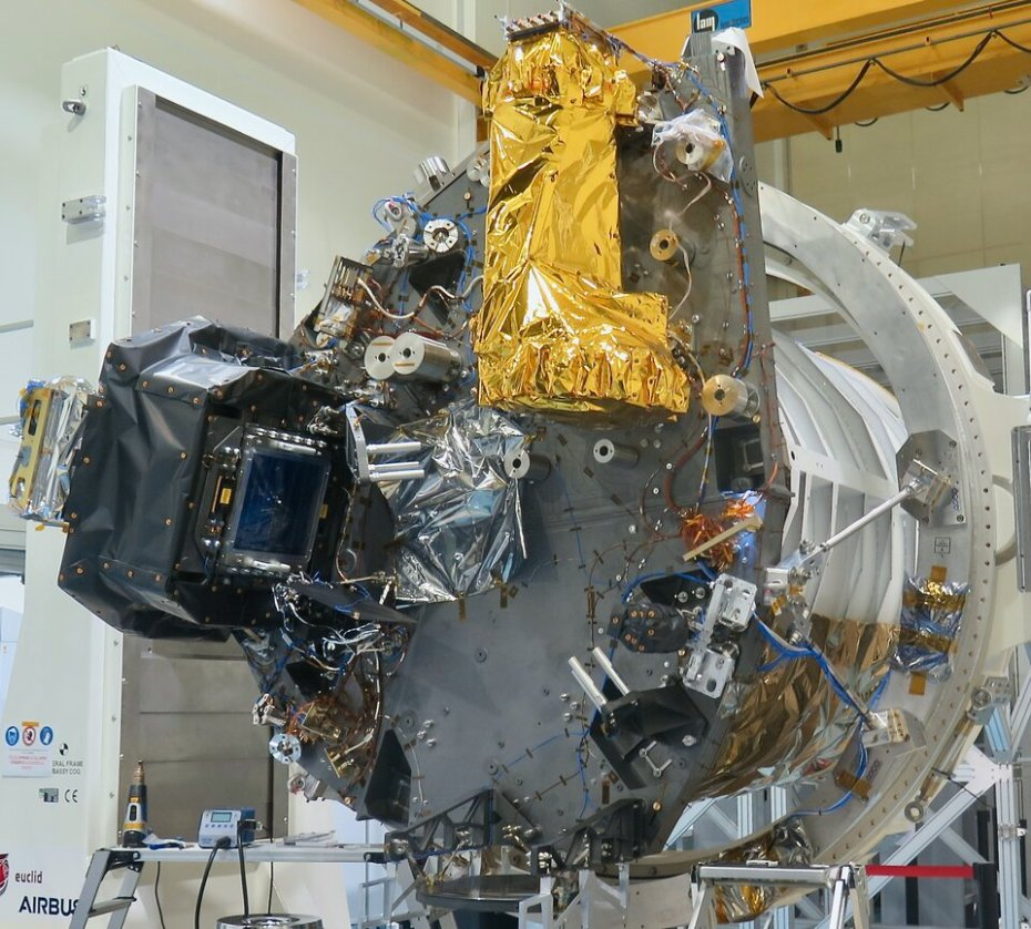 The VIS (left) and NISP (right) instruments on Euclid's payload module