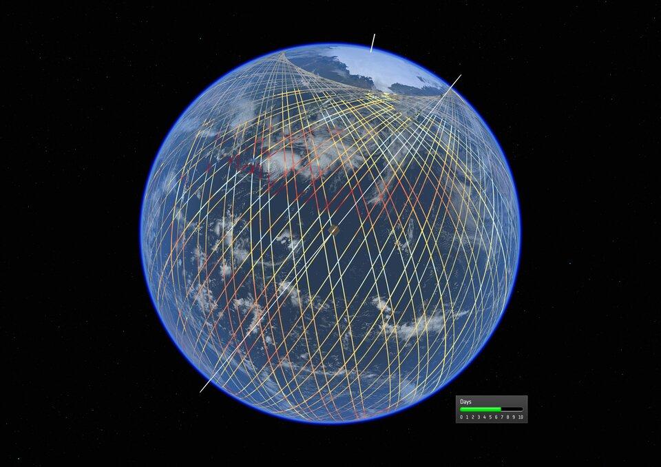 Copernicus Sentinel-6 orbital tracks