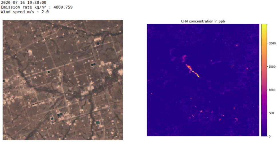 Methane hotspot detected with Copernicus Sentinel-2 imagery